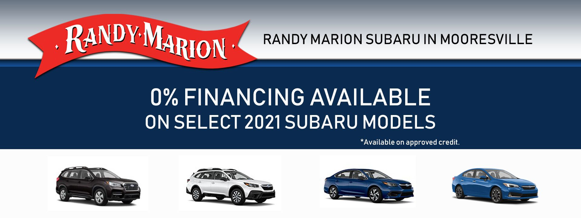 May Subaru SPECIAL APR OFFER