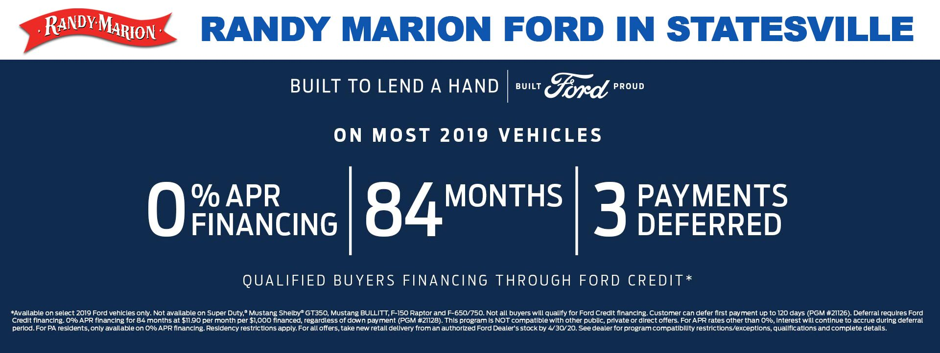 Randy Marion Ford - SHOP ONLINE