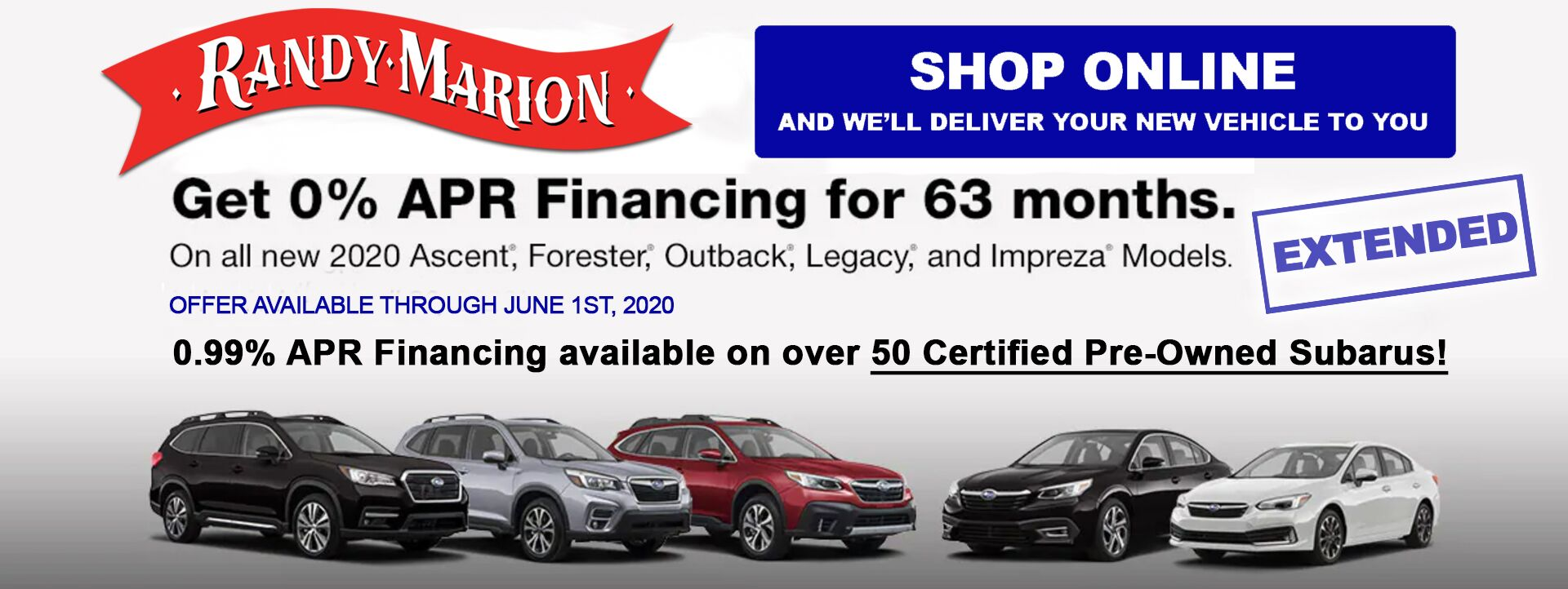 Randy Marion Subaru March Offers