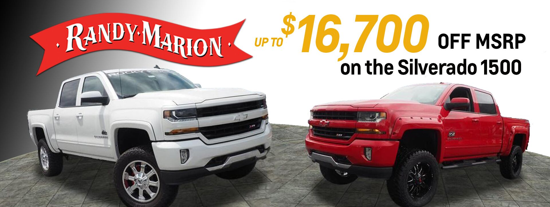 Randy Marion has the Trucks! Up to $16700 OFF