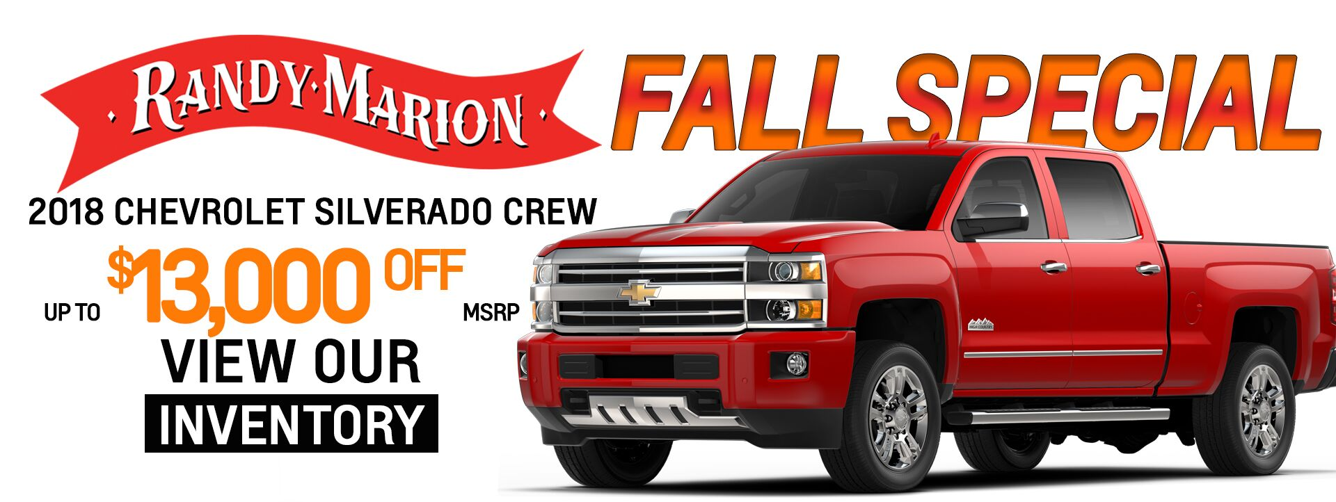 Fall Special - Crew Cabs