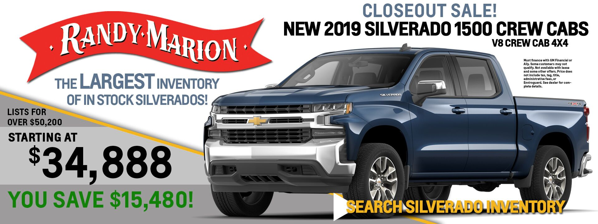 2019 Chevrolet Silverado 1500 Closeout Sale