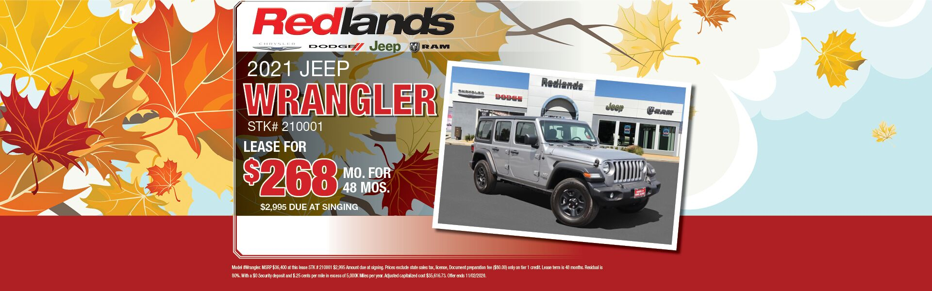 2021 Jeep Wrangler Lease Offer
