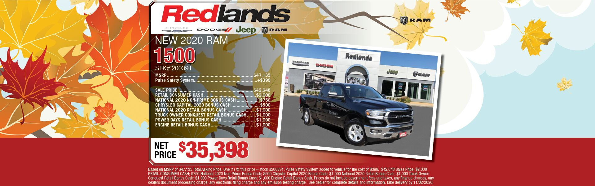 2020 Ram 1500 Finance Offer