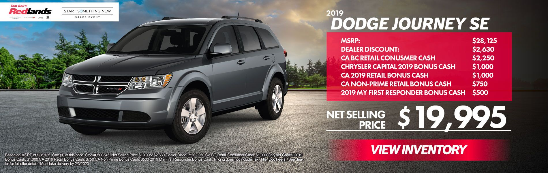 JANUARY SPECIALS - 2019 Dodge Journey