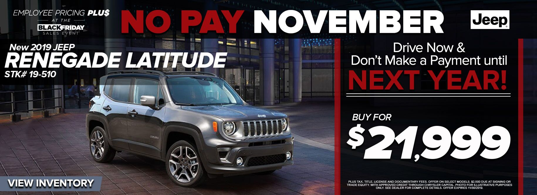 2019 Jeep Renegade Laitude