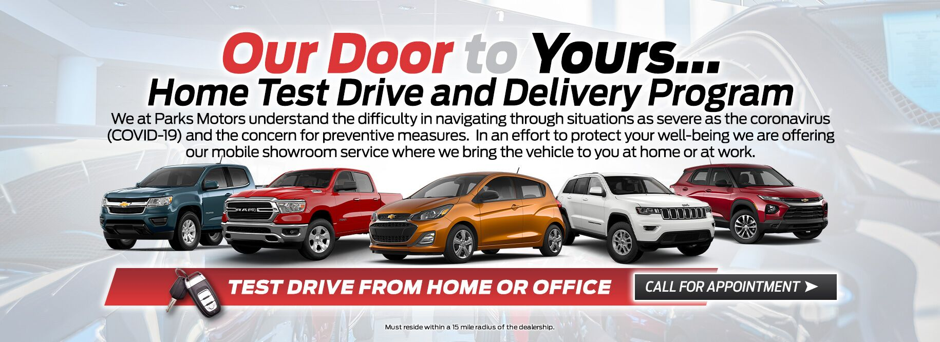 Home Test Drive and Delivery Program at Parks Chevrolet