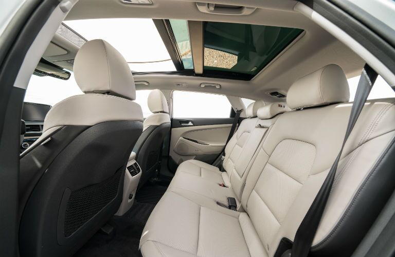 A photo of the rear seats in the 2021 Hyundai Tucson.
