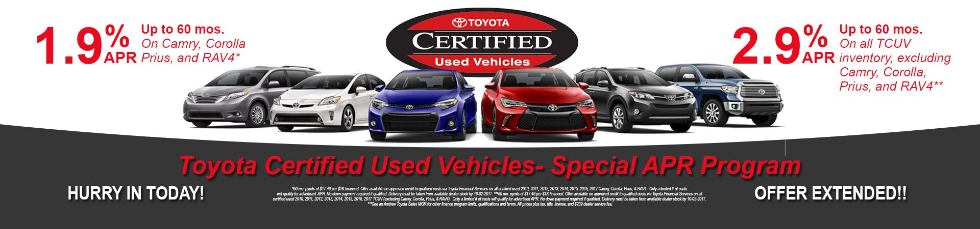Toyota Certified Used Specials At Andrew Toyota