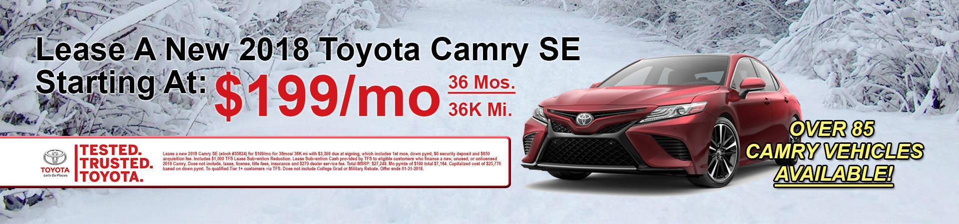 January Camry Deals