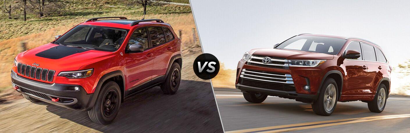 2019 Jeep Cherokee vs 2018 Toyota Highlander