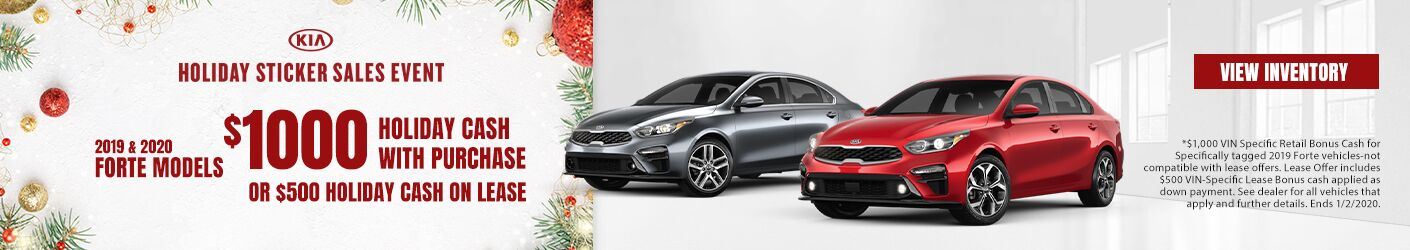 2019 Kia Fortes Holiday Cash