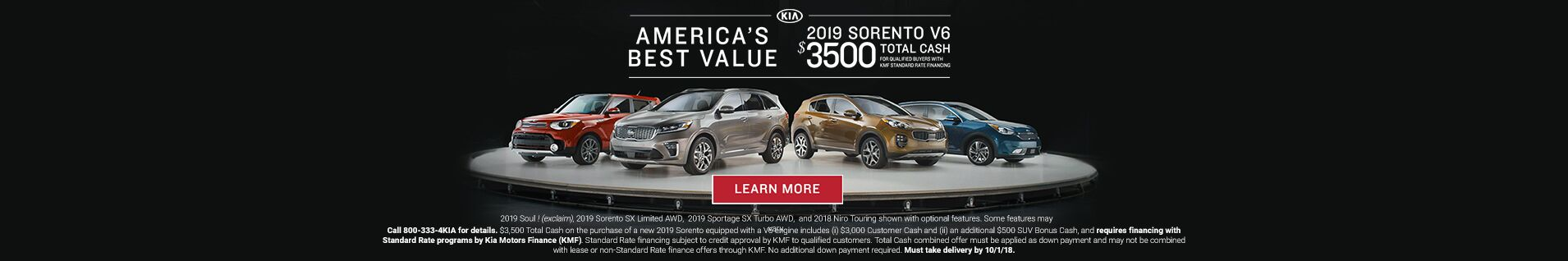 America's Best Value 2019 Sorento Palmen Kia