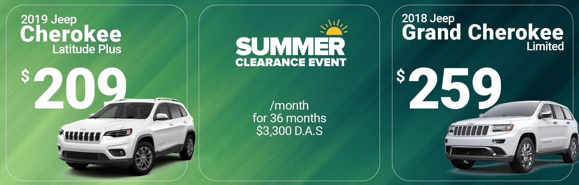 Summer Clearance Offers Jeep