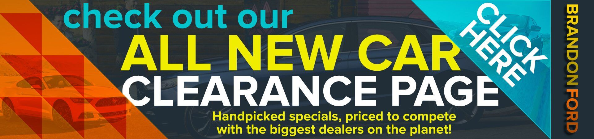 New Car Clearance Page