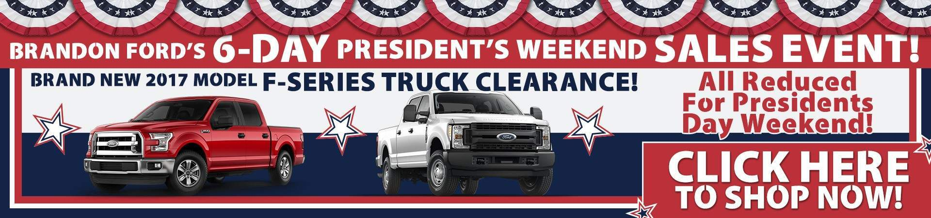 Pres Day F-Series Clearance