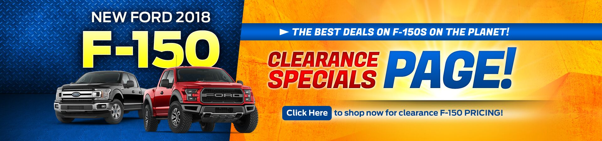 F-150 Clearance Specials
