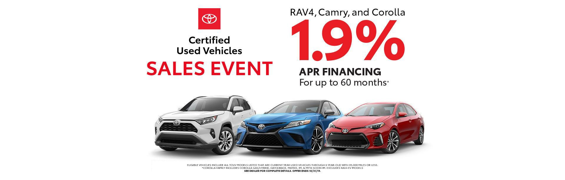 Certified Used Vehicles Sales Event