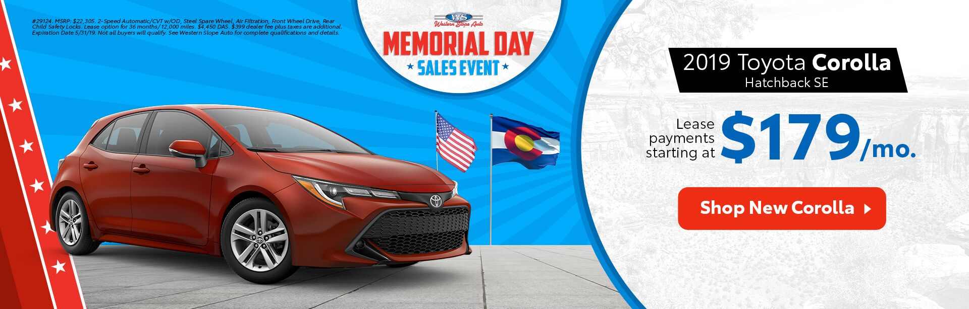 2019 Corolla Hatchback / Memorial Day Sales Event