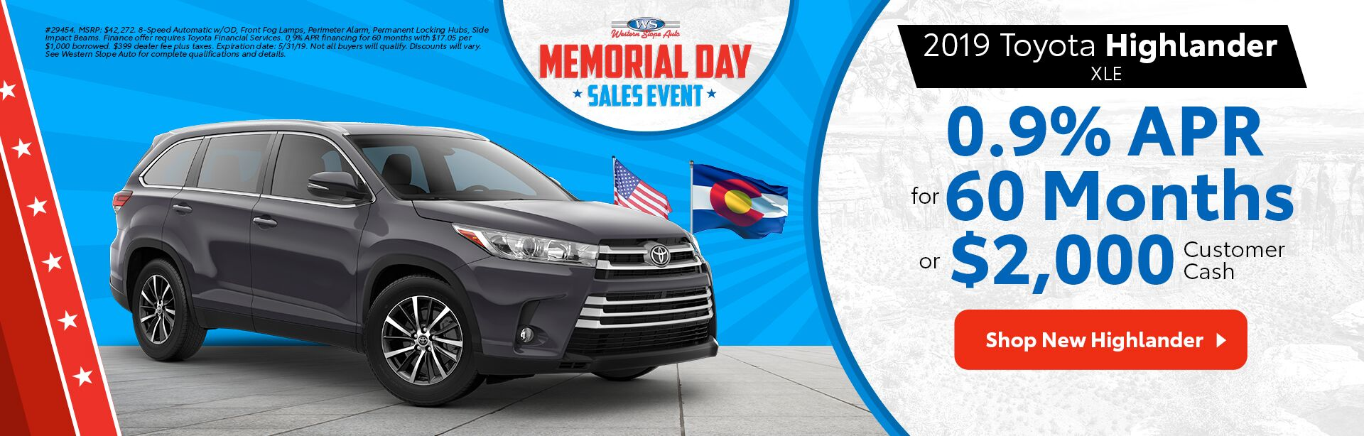 2019 Highlander / Memorial Day Sales Event