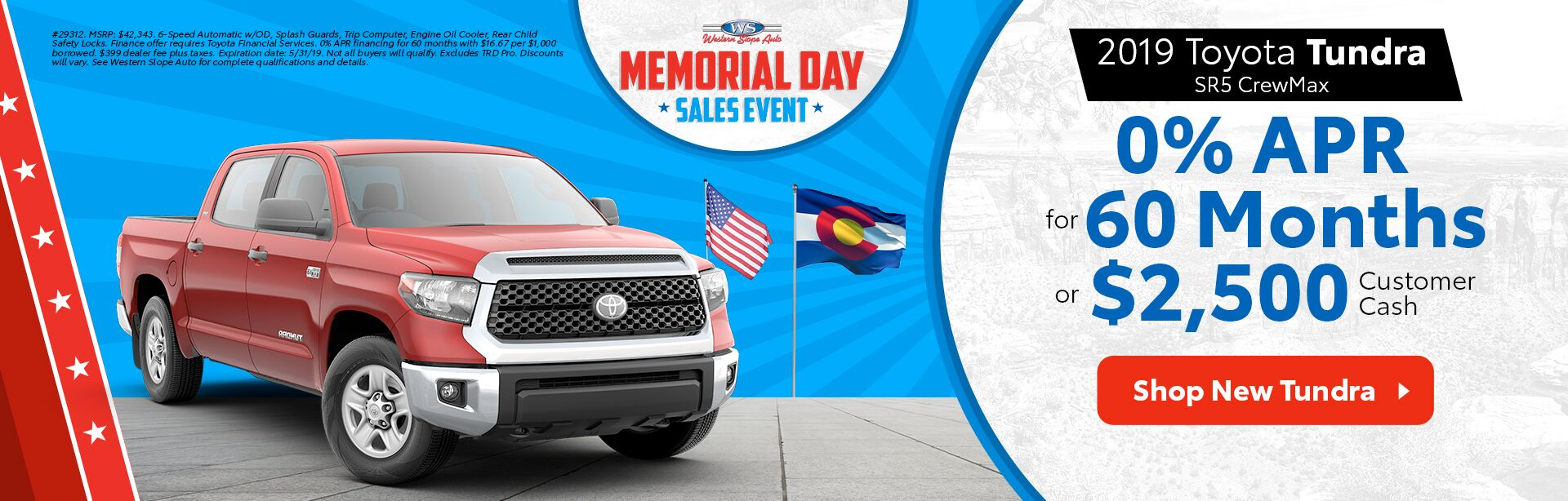 2019 Tundra / Memorial Day Sales Event