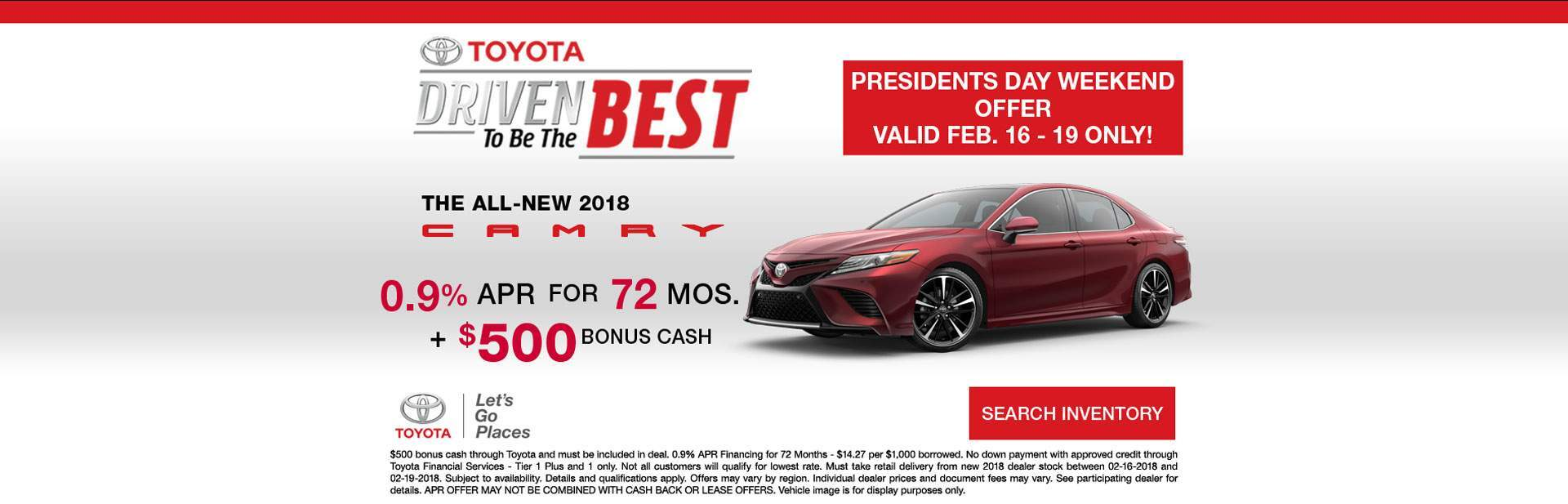 Presidents Day Event - Camry
