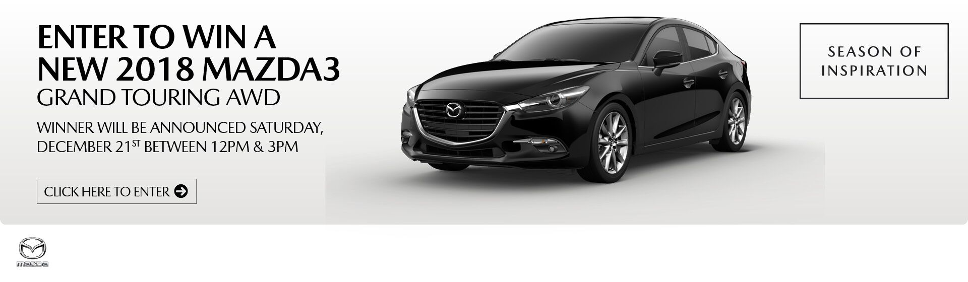 Enter to Win a New 2018 Mazda3 Grand Touring AWD!