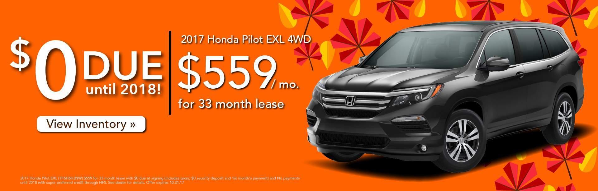 Honda pilot lease