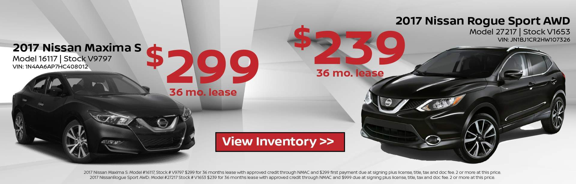 Nissan Rogue Sport and Altima Lease
