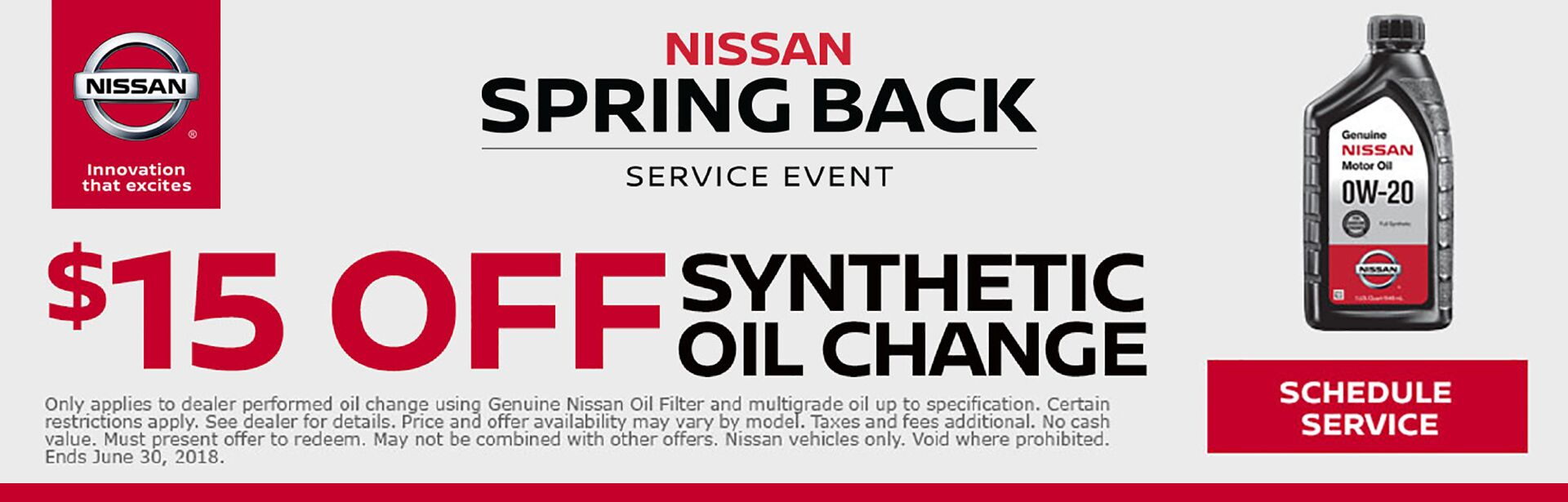 Nissan Spring Back Synthetic Oil Change