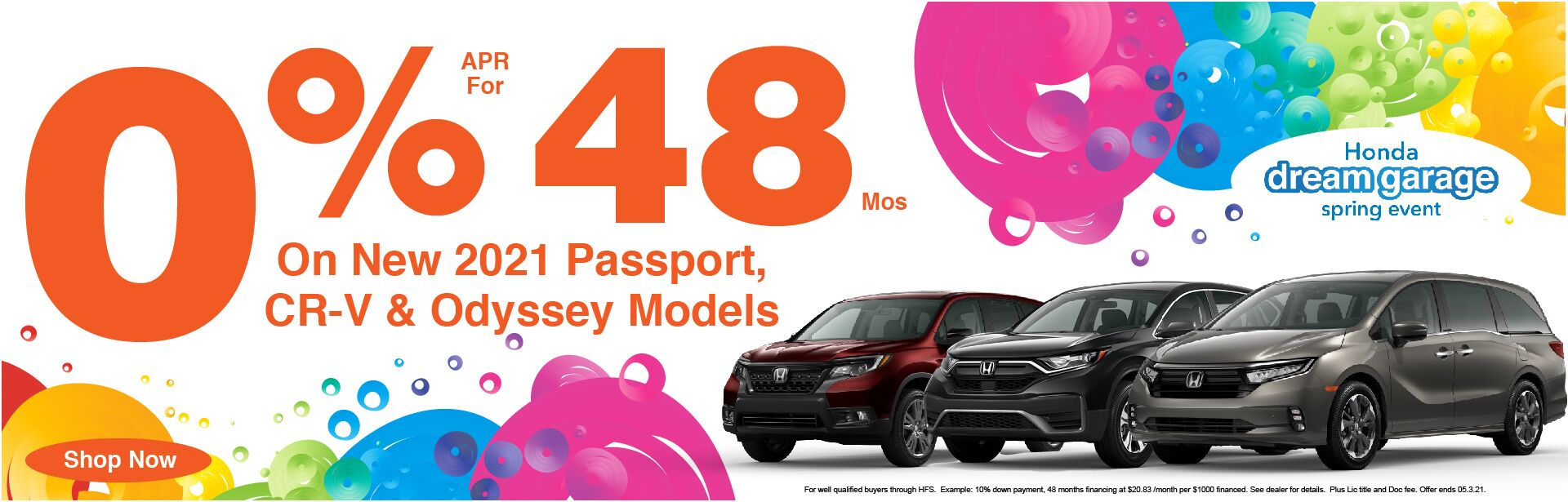 2021 CR-V, Passport, & Odyssey 0% APR x 48 Months