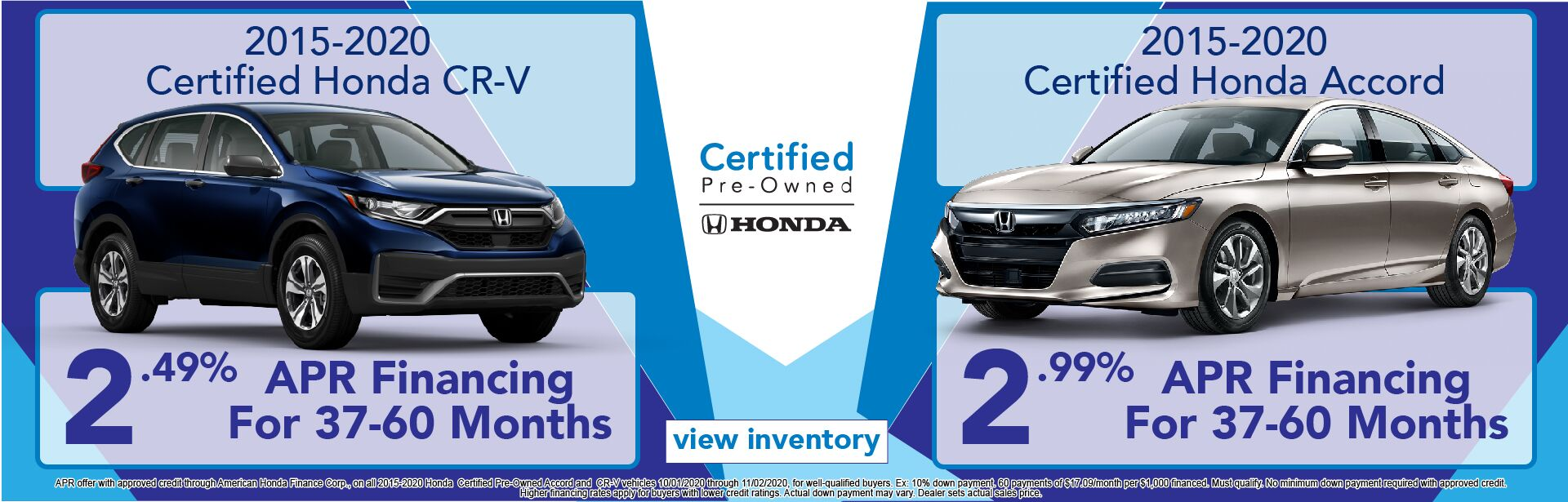 Certified Pre-Owned CR-V and Accord