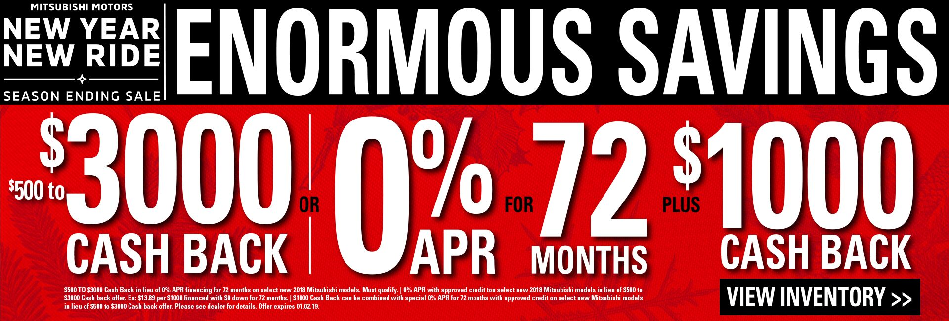 Enormous Savings at Continental Mitsubishi