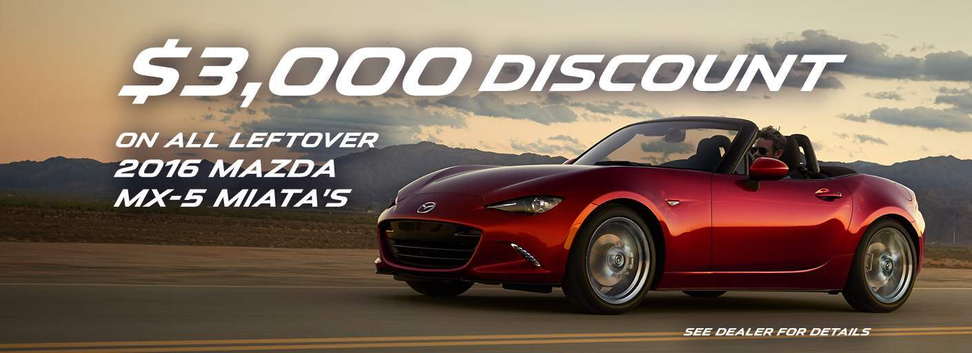 $3000 off Remaining 2016 MX-5