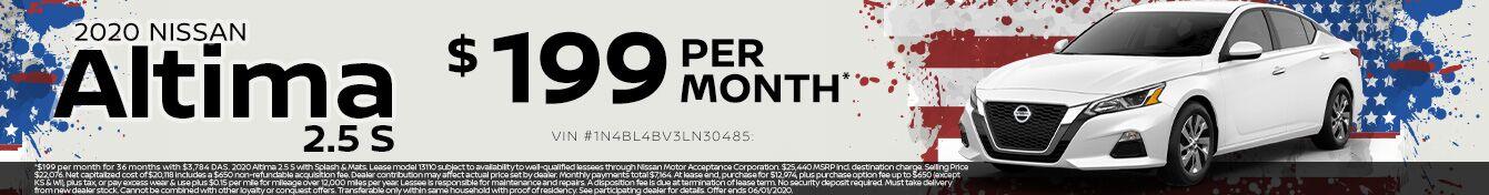 2020 NISSAN ALTIMA $199 PER MONTH