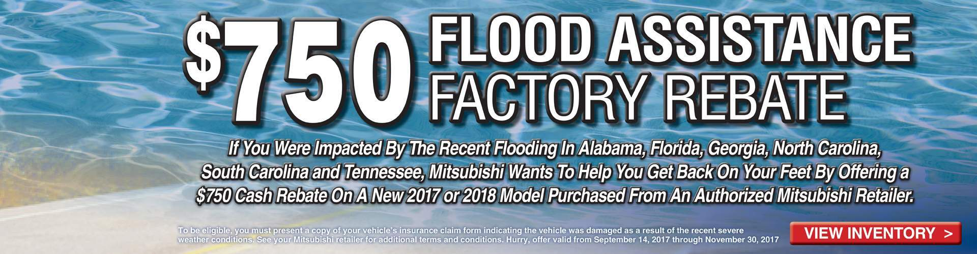 Just Announced - Miami Lakes Mitsubishi Flood Assistance Rebate!