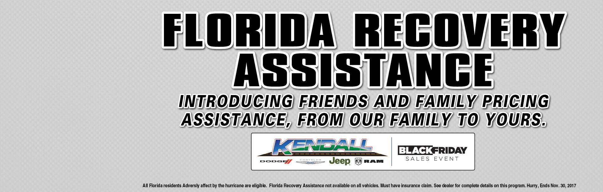 Florida Recovery Assistance - Friends and Family Pricing!!