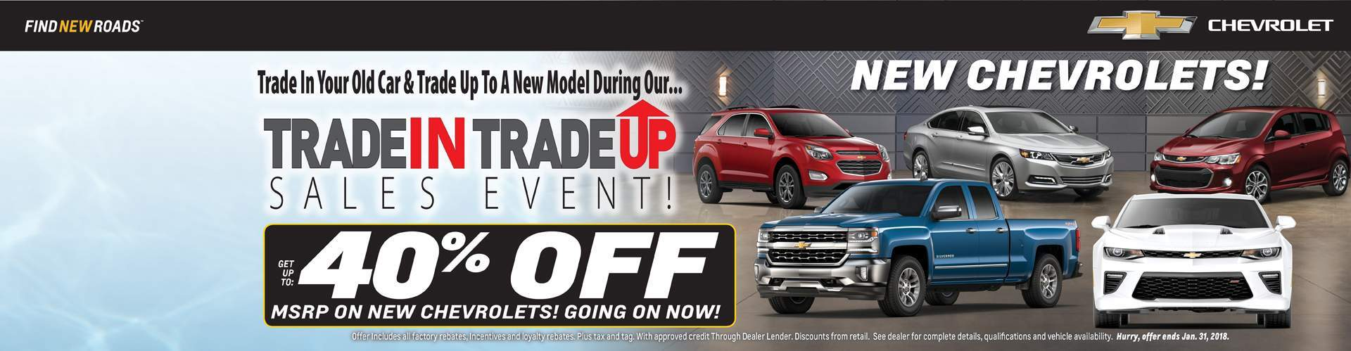 New Chevrolets Get Up To 40% Off MSRP!