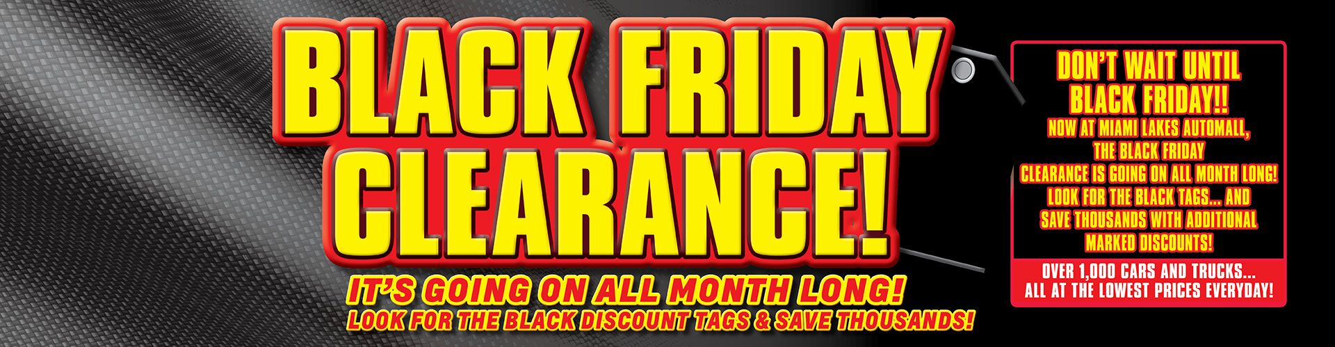 Black Friday Clearance! - All Month Long!