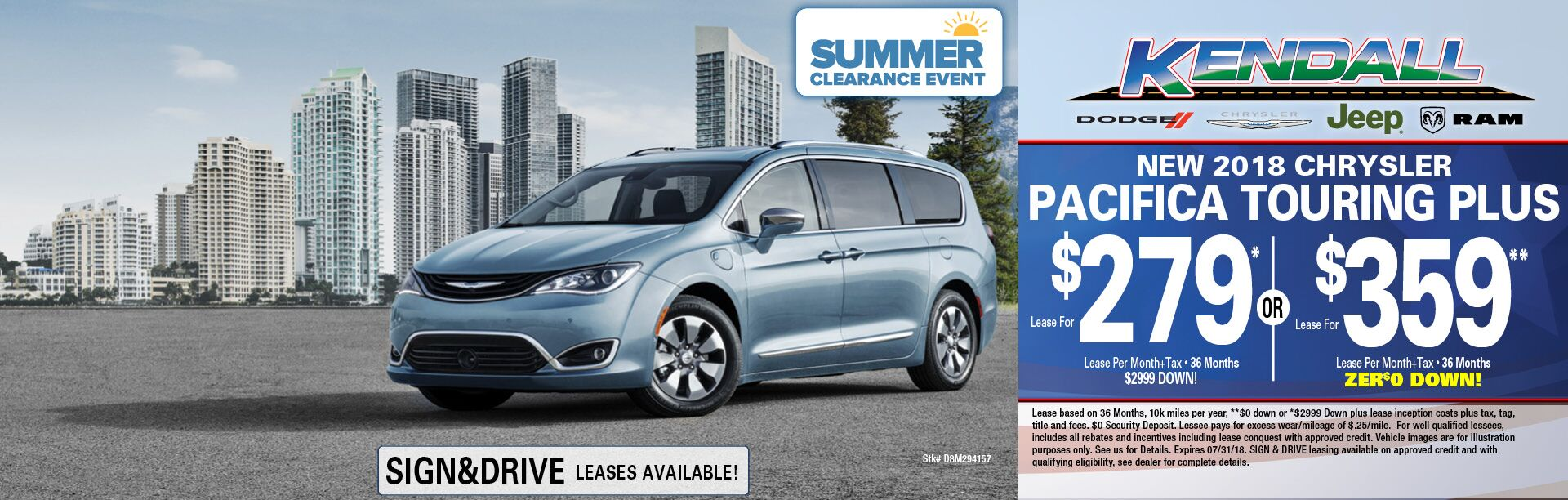 2018 Pacifica Touring Plus
