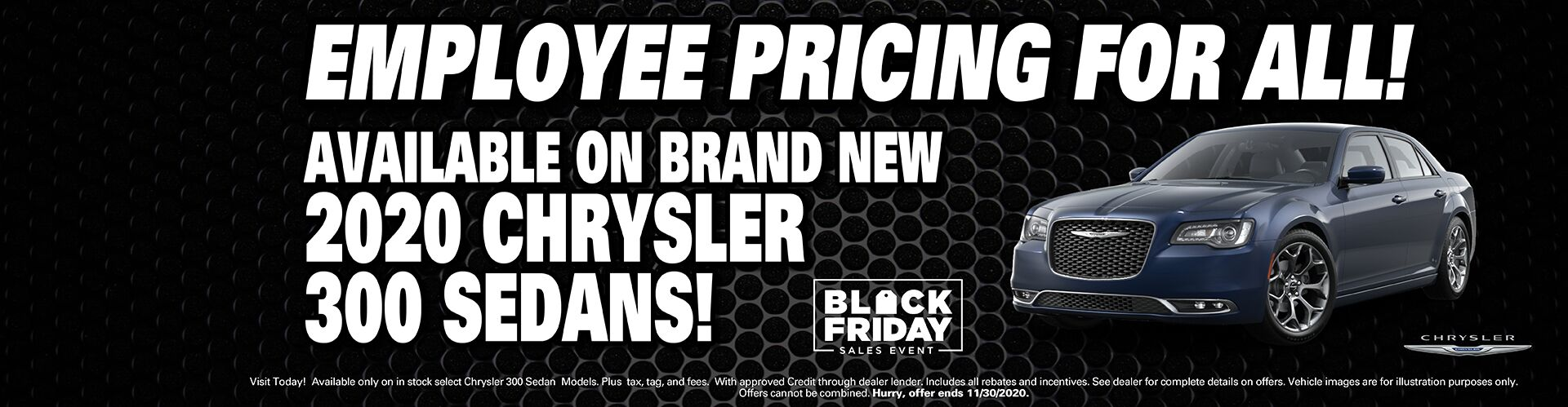 Just Announced! - Employee Pricing On New Chrysler 300s