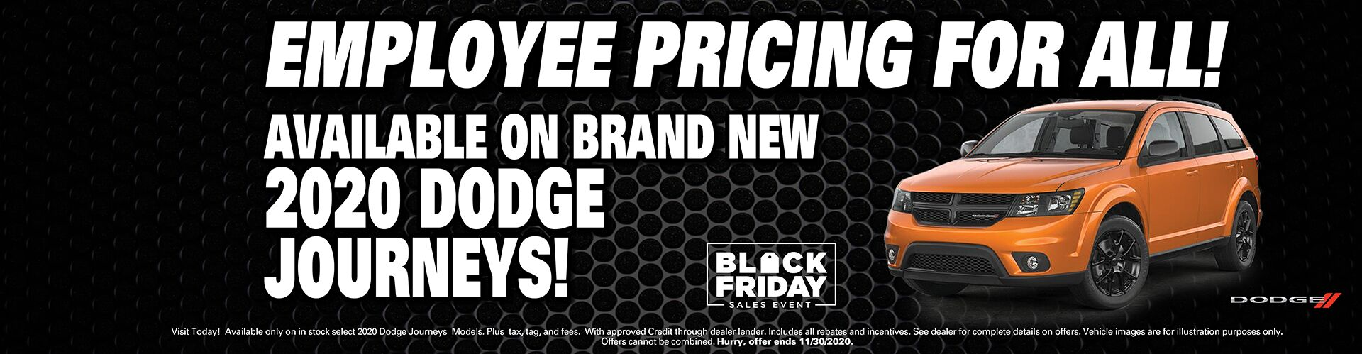 Employee Pricing On New Dodge Journeys!
