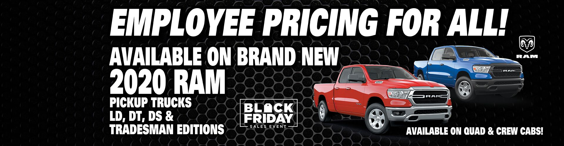 Employee Pricing On Ram Trucks!