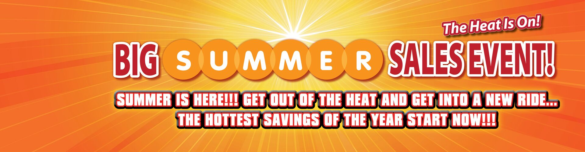 It's The Big Summer Sales Event!