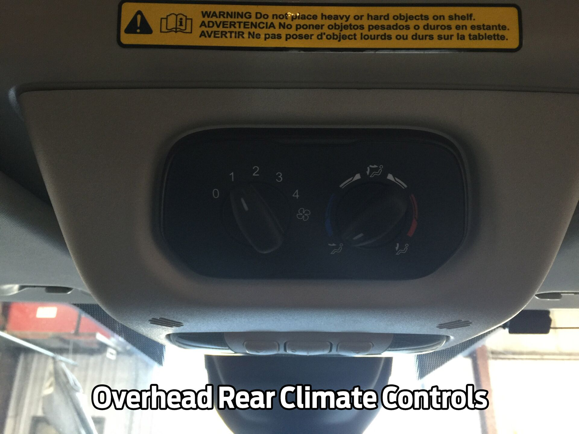 Overhead Rear Climate Controls