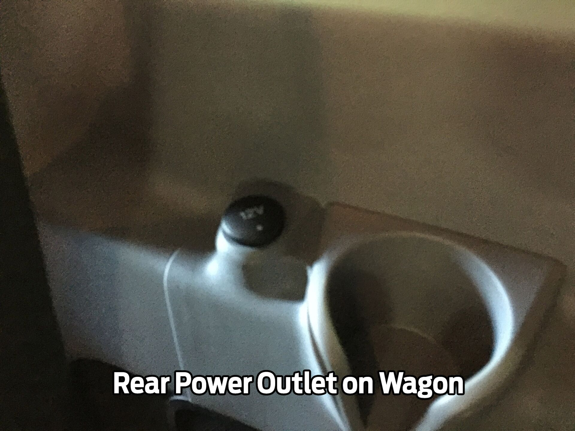 Rear Power Outlet on Wagon