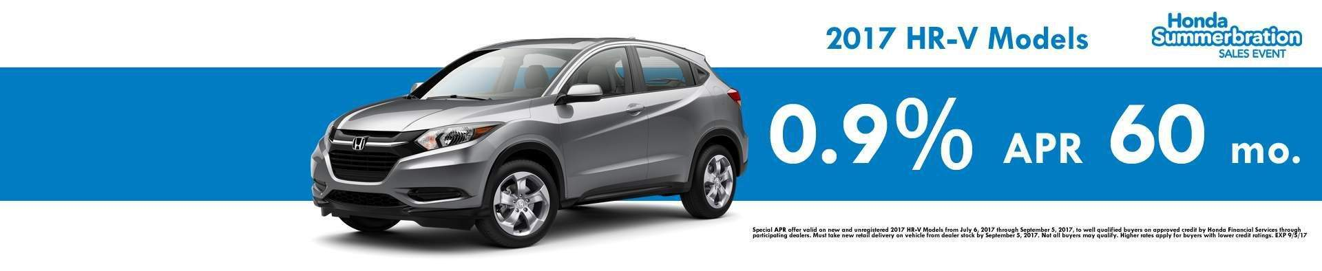 August HR-V Summer APR & Lease