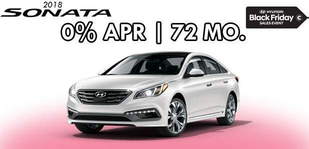 0% APR for 72 Months on 2018 Sonata
