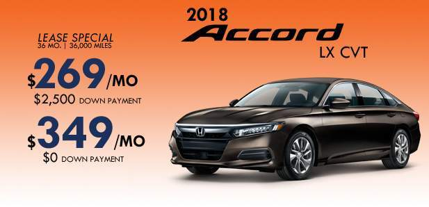 January Accord Special $269/mo $2,500 down