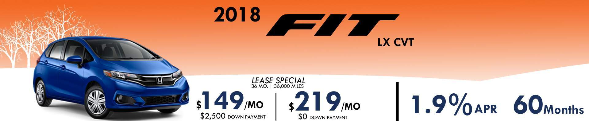 2018 Fit January Special 1.9% for 60 Months